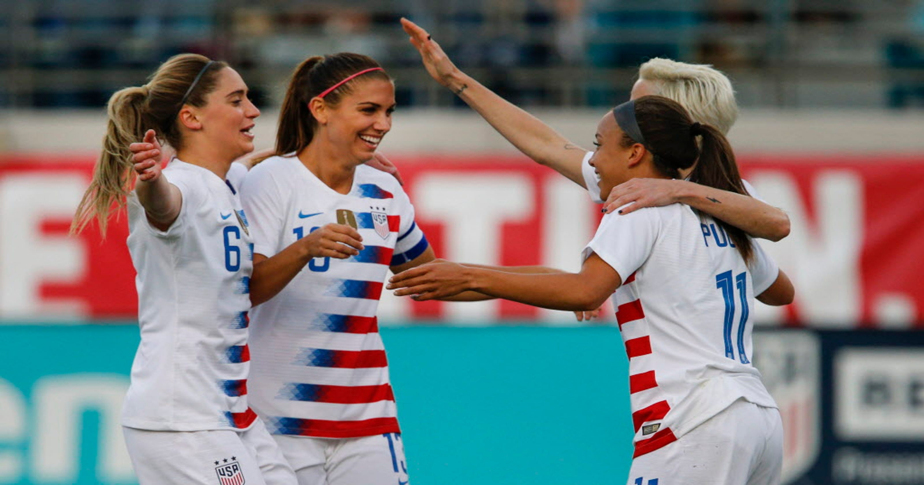 e62f3dfae0d Alex Morgan scores twice in U.S. women s national team friendly vs. Mexico