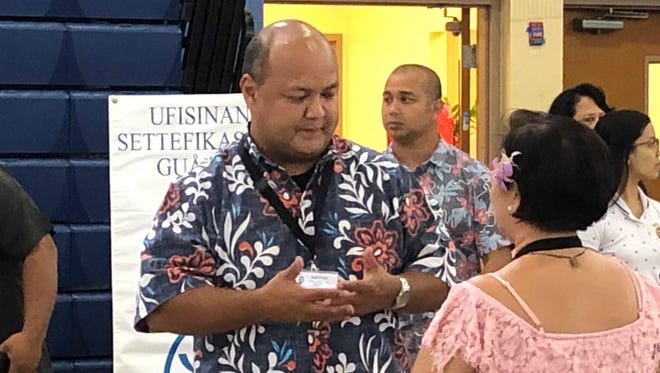 Superintendent Jon Fernandez said recruiters were trying to fill 300 teaching vacancies at the Guam Department of Education job fair Friday.