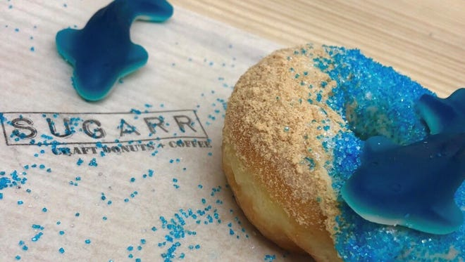 Sugarr Craft Donuts + Coffee in River Rouge created a donut for Shark Week