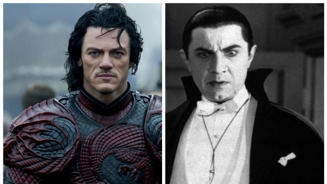 Luke Evans as Dracula in 'Dracula Untold,' Bela Lugosi as Dracula in the 1931 version of 'Dracula.'