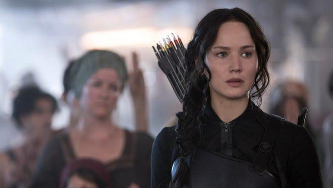 "Jennifer Lawrence in ""The Hunger Games: Mockingjay - Part 1."""