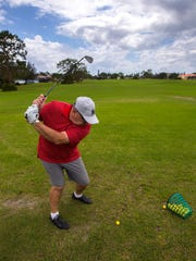 Cape Coral resident John Casazza practices at the Coral