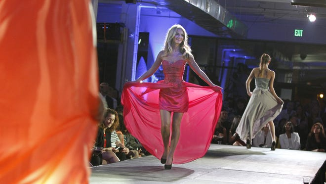 In a departure from previous Fashion Weeks, which had events at a variety of locations, all of this week's events will be held in a 15,000-square-foot tent on Main Street downtown.