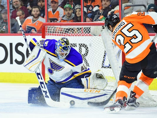 NHL: St. Louis Blues at Philadelphia Flyers