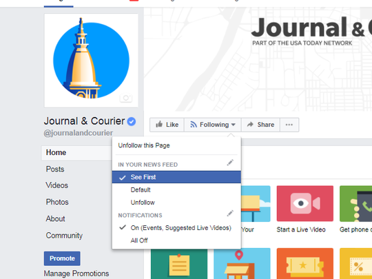 Here is one way to keep the J&C in your Facebook news