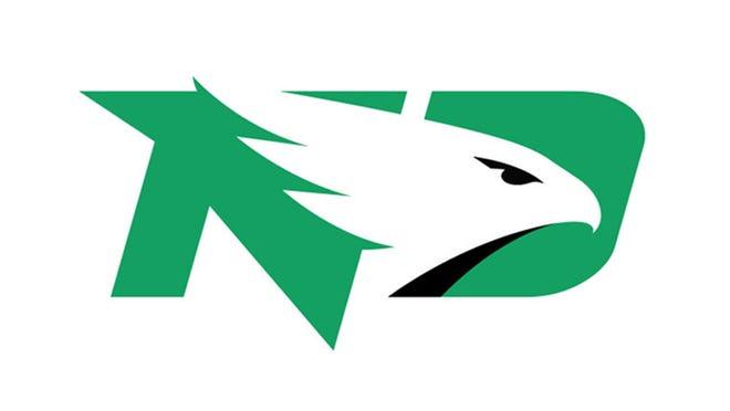 The University of North Dakota Fighting Hawks logo