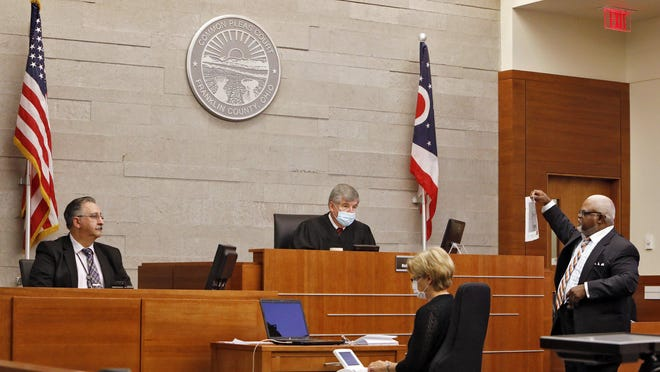 A file photo from a proceeding in a Franklin County Common Pleas courtroom.