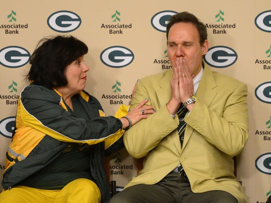 Steve Shumer, Gillette, NJ reacts to being named the 17th member of the Green Bay Packers Fan Hall of Fame.