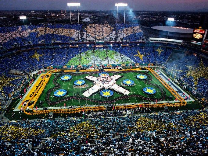 Half time at Super Bowl XXX between the Dallas Cowboys
