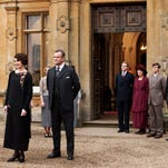 """This photo provided by courtesy of MASTERPIECE shows, Dan Stevens, left, as Matthew Crawley, and Michelle Dockery as Lady Mary Crawley, in season 6 of the television series, """"Downton Abbey."""" While announcing on Thursday, March 26, 2015, that next season's """"Downton Abbey"""" will be its last, executive producer Gareth Neame declined to say who among the Crawley clan and staff will survive until the series' final fade-out."""