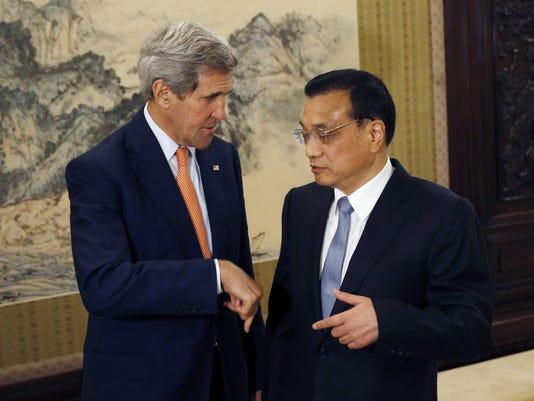 John Kerry, Li Keqiang