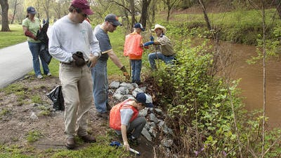 Friends of the Reedy River participate in the March cleanup of the waterway