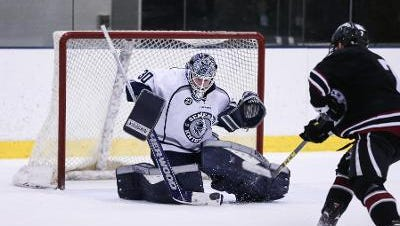 Freshman goaltender Devin McDonald of Calgary is on a roll for Geneseo with a 2.55 GAA, .917 save percentage and 14-2-5 record.