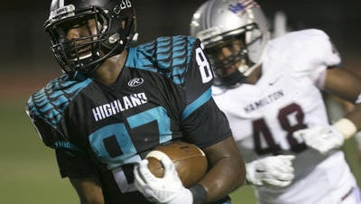 Highland tight end/wide receiver Tyler Johnson announced he will play football at Arizona State