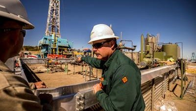 WPX Energy CEO Rick Muncrief tours the San Juan Basin and Permian Basin drilling operations with the drilling team on Saturday, June 10, 2017.