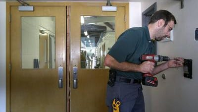 The horrific shooting in December 2012 at Sandy Hook Elementary School in Newtown, Conn., accelerated security upgrades to entrances in Appleton schools, including at Appleton Public Montessori in Plamann Park.