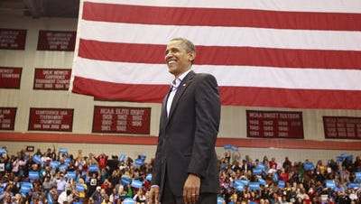 President Barack Obama campaigns just days before the 2012 election at Fifth Third Arena on the campus of the University of Cincinnati. Democratic state Sen. Eric Kearney thinks the Norwood Lateral ought to be named for him, but his idea is being criticized by Republicans.