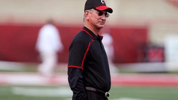 Tommy Tuberville and the Bearcats will scrimmage Saturday at Paul Brown Stadium.