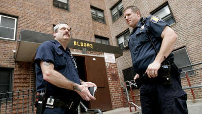 Former Yonkers Police Officer Martin Geary, right, in 2009. Geary, who retired in 2012 after 15.5 years on the force, earns a disability pension of $119,162.
