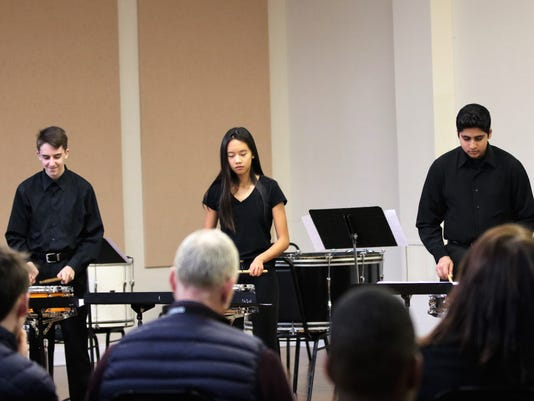 Rutgers University percussionist leads day of percussion.