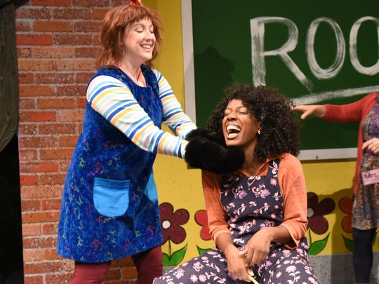 Kate Haas (left) and Raquel McKenzie in Childsplay's