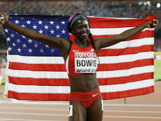 Tori Bowie is one of the top sprinters in the world.