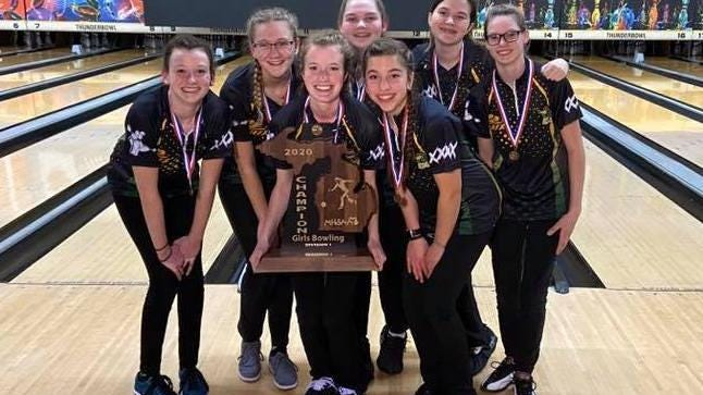 The Zeeland girls bowling team won its first ever state championship this year.