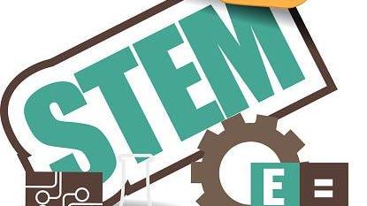 STEM icon flat design EPS 10 vector