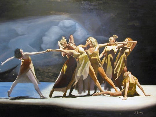 Dans La Lumiere, painting by Stephen Janton.jpg