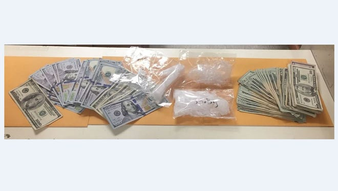 Salinas Police seized cash, firearms and narcotics after a traffic stop on Wednesday.