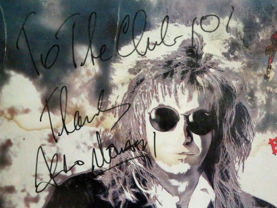 Joe Dorgan has a signed poster from '80s rocker Aldo