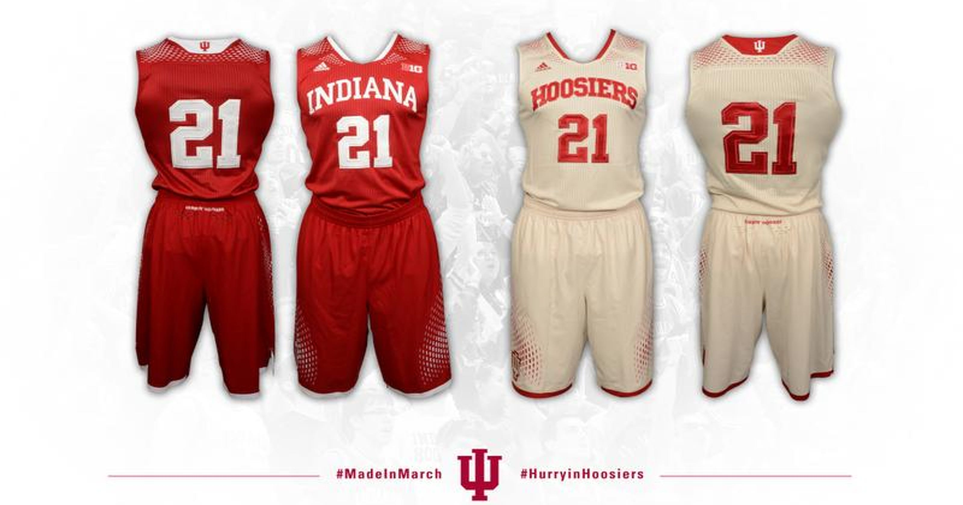 online retailer 760c2 590bf Indiana switching to new Adidas uniforms for Big Ten Tournam