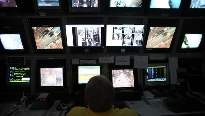 A Downtown Visions employee oversees some of the more than 80 surveillance cameras operating in Wilmington. Wilmington City Council agreed to a $415,000 lease for ShotSpotter technology aimed at helping police quickly find crime scenes when gunshots are fired.