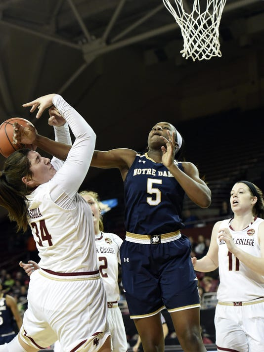 NCAA Womens Basketball: Notre Dame at Boston College