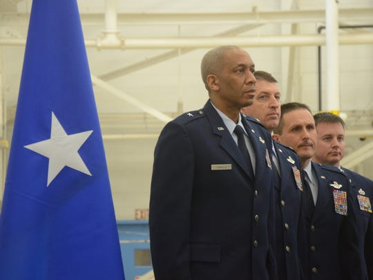 Brigadier General Leonard Isabelle, from left, Colonel