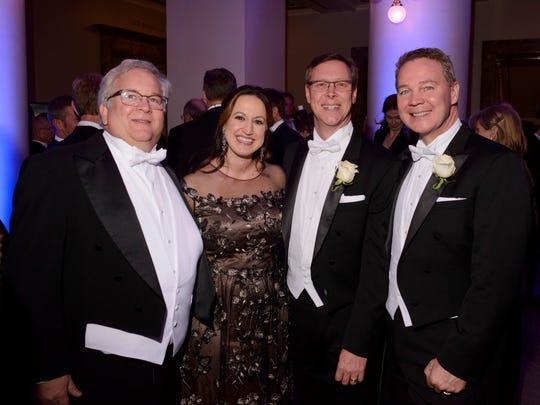 From left, Jeff Zeitlin, Jennifer McCoy, Jay Jones