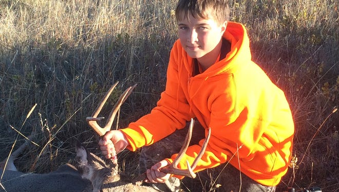 Trenton Olson took this mule deer during this year's youth hunt.