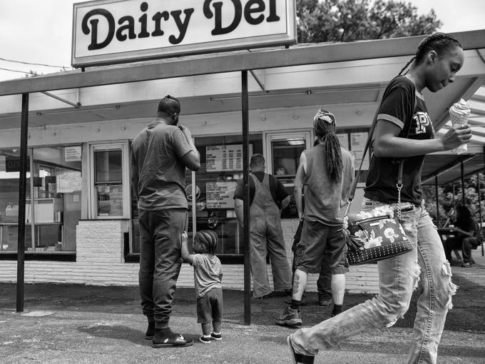 The scene at the Dairy Del, a Seventh Street institution