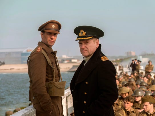 James D'Arcy, left, and Kenneth Branagh in 'Dunkirk.' Christopher Nolan's World War II epic was overlooked by the SAGs, earning only a stunt ensemble nomination.