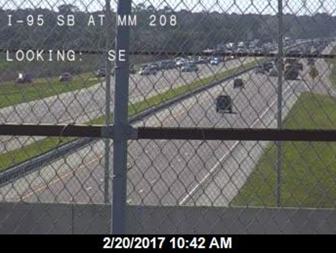 A suspicious package shut down both directions of I-95