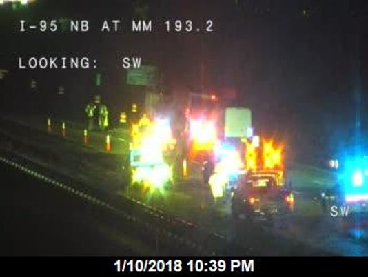 Fatal crash at mm 193 on SB I-95