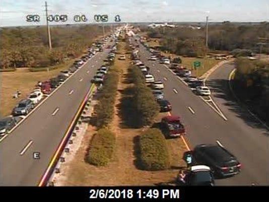 Traffic on U.S. 1 in Titusville