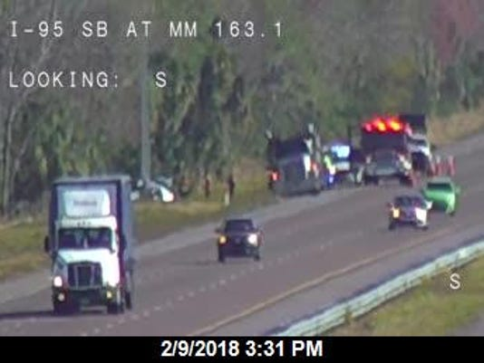 Motorist killed after striking pole on I-95