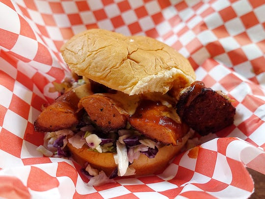Hula hot link sandwich at The Root and Soul in Phoenix.