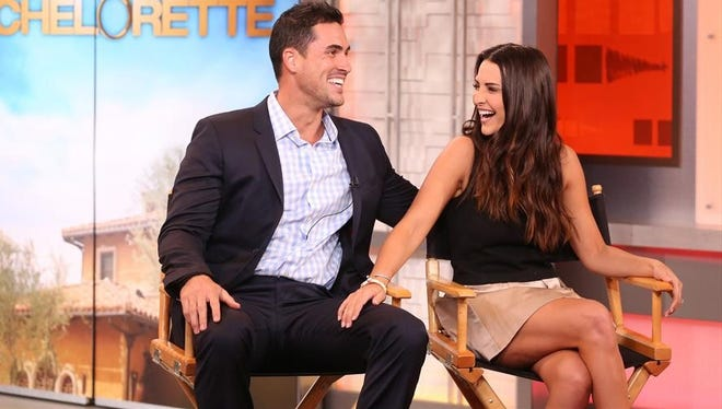 "Andi Dorfman and Josh Murray of ABC's ""The Bachelorette"" on ""Good Morning America."""