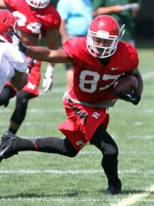Rutgers wide receiver Vance Matthews has come on strong since the end of last season.(Photo: Mark Sullivan/Staff photographer)