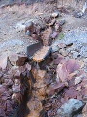 Acid mine drainage from the Formosa Mine has killed all life in the south fork of Middle Creek in Douglas County