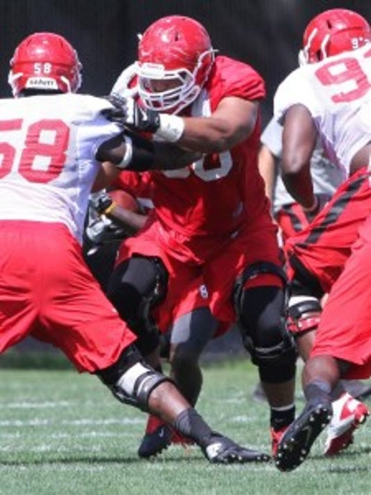 Dorian Miller of Metuchen is in line to start at left guard for Rutgers this season.(Photo: MARK R. SULLIVAN/Staff photographer)