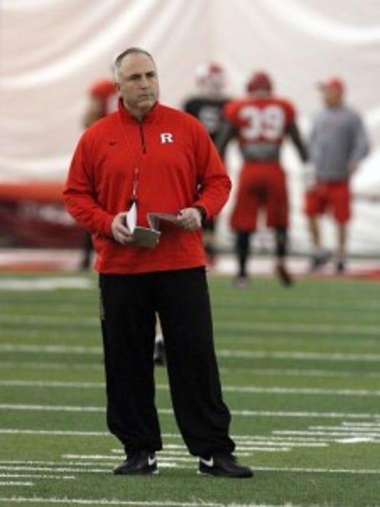 Rutgers coach Kyle Flood's program has had a tough week. (File photo)