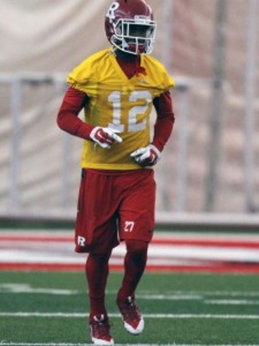Rutgers cornerback Nadir Barnwell is injured, in danger of being academically ineligible and suspended from the team and the school. (file photo)